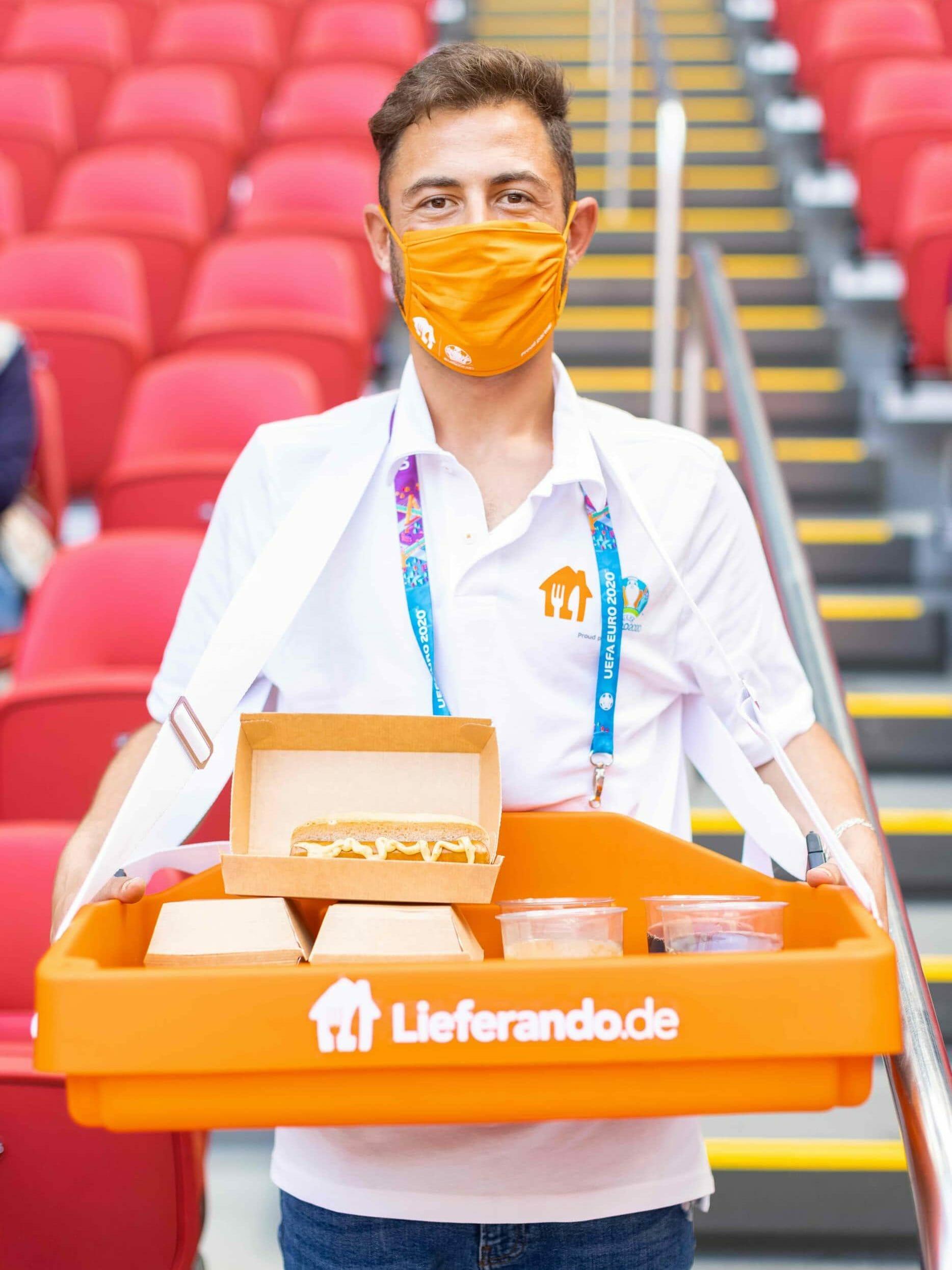In-Stadium Delivery von Lieferando