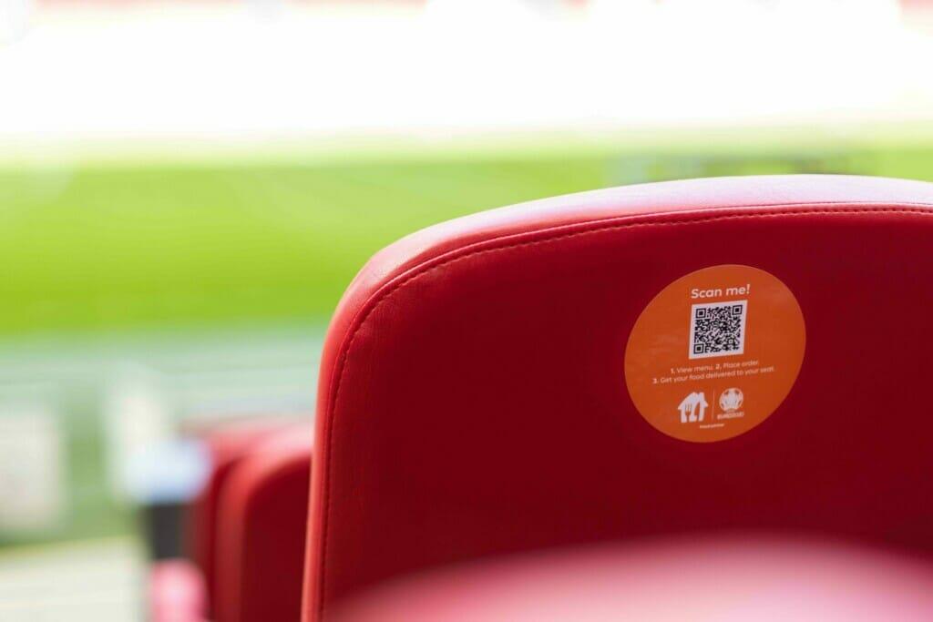 Lieferando: In-Stadium Delivery, bestellen über QR-Code