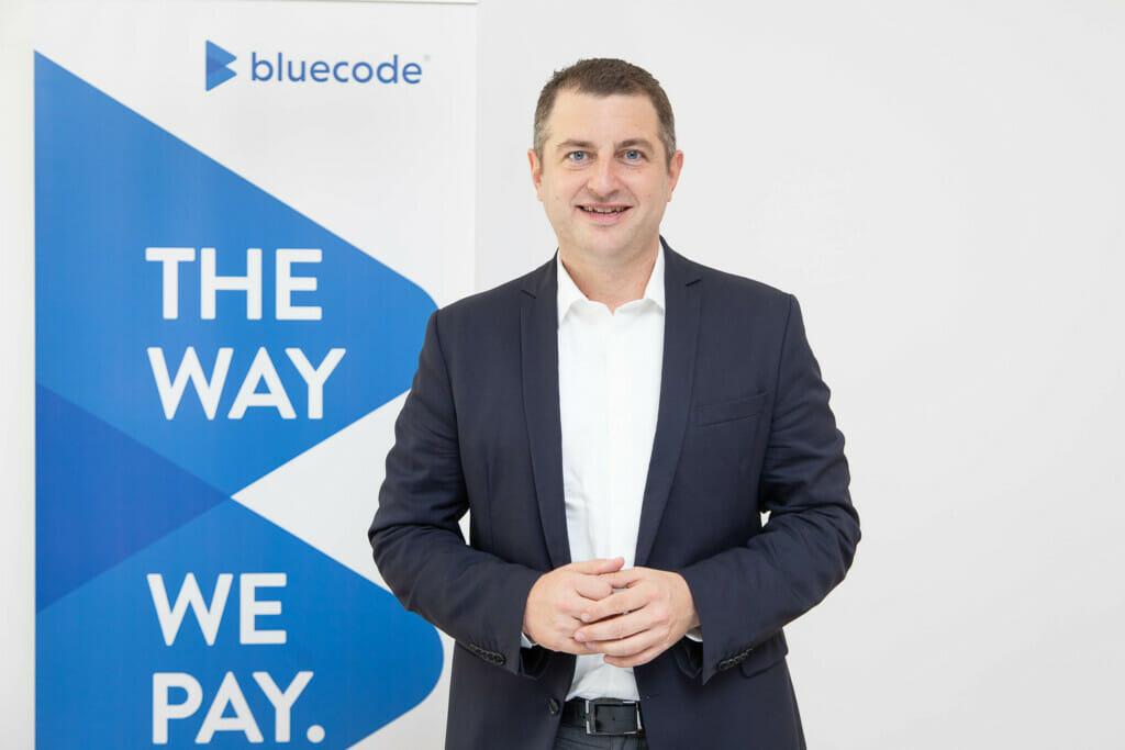 kontaktlose Zahlung Bluecode