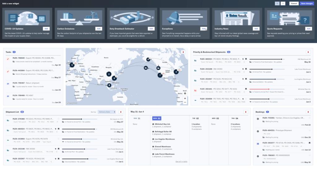 Speditions-Plattform
