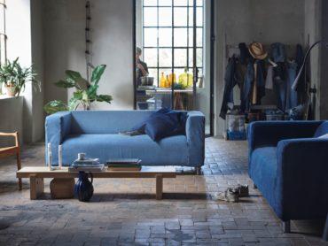 Textilrecycling im Möbelhaus: Wie eine Jeans zum Sofabezug wird