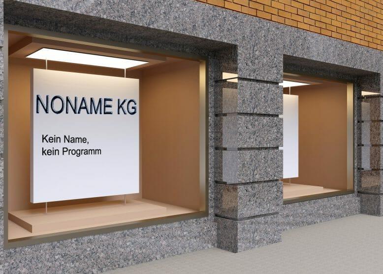 Namensgebung Noname AG