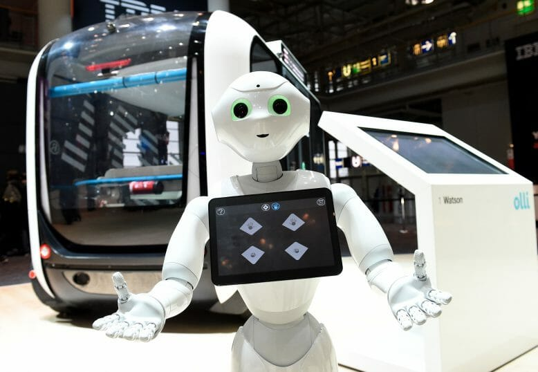 Roboter Pepper auf der Cebit in Hannover