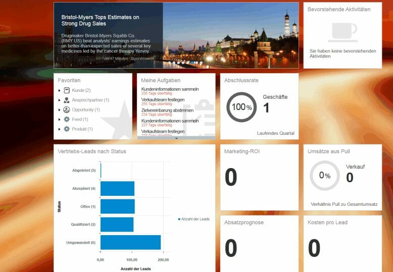 Screenshot Cormeta Cloud for Sales