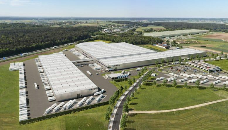 Visualisierung Hermes Logistikzentrum Ansbach