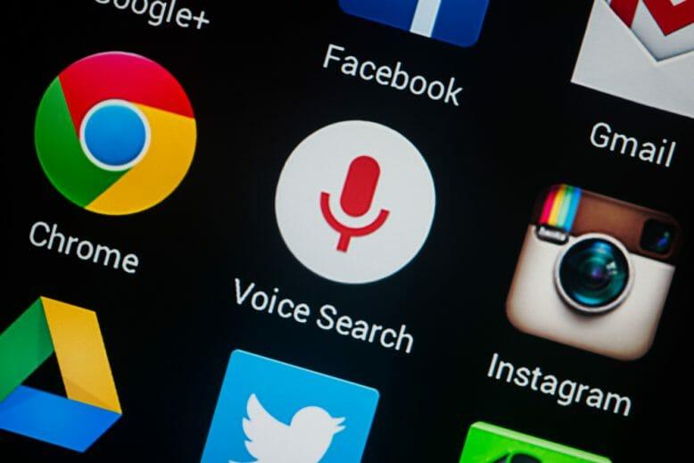 Button für Voice Search