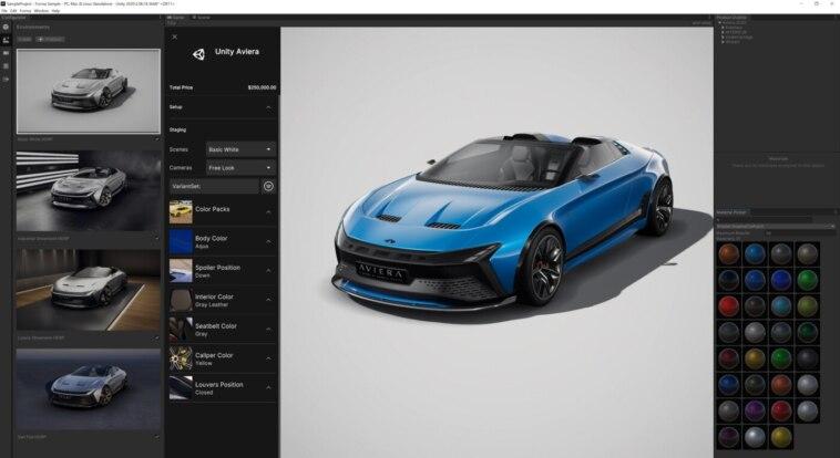 3D-Konstruktionsdaten für Automobilkonfigurator: Unity Forma